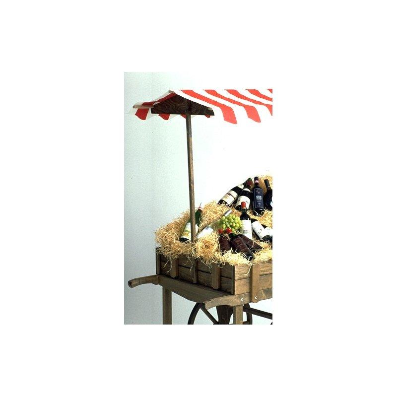 Relativ Verkaufswagen mit Markise rot/weiß und Holzräder, 399,00 & XY67